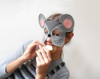 Children Mouse Mask, Kids Carnival Mask, Animal Dress up Costume Accessory, Pretend Play Toy Toddlers, Boys, Girls