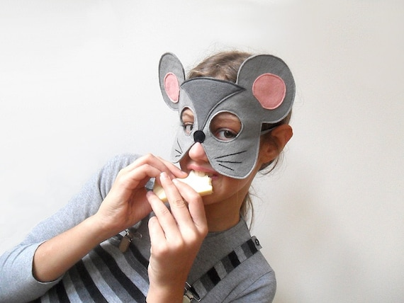 grey mouse mask kids halloween costume accessory kids carnival