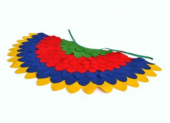 Items similar to Childrens Costume Wings, Kids Bird Dress ...