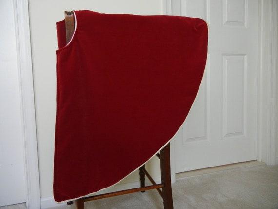 Tree Skirt - Red Velvet Christmas Tree Skirt - Gold Cording - Elegant Tree Skirt