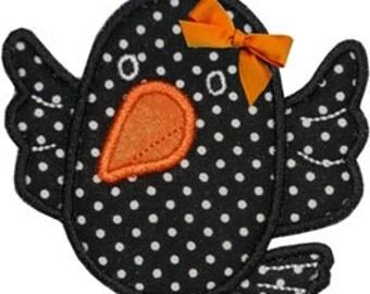 Sweet Halloween Raven Applique