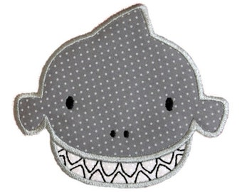 Shark Silly Sea Creature Applique