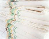 Vintage Inspired Modern Text All Cotton Cloth Tea Towel by indobay
