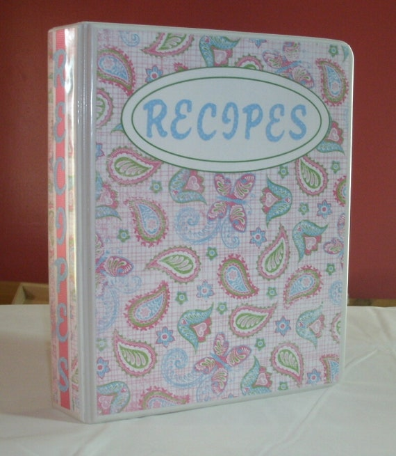 Recipe Book / Binder 8.5 x 5.5 with cards and divider tabs