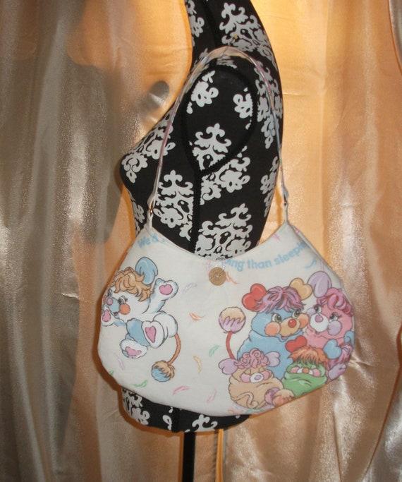 Popples Round  Shoulder Bag --Vintage 1986- OOAK  American Greeting  Meduim Sized  PJ, Puffball, party