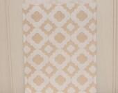Paper Bags, 24 Ivory Mod Print Favor Bags, Beige Paper Bags, Ivory Bags, Wedding Favor Bags, Party Treat Bags, Vintage Wedding Favor Bags