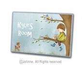 Boys room door sign,personalized plaque, nursery sign, Kids wall art,boys room door sign,art for boys room,kids door plaque,baby door hanger