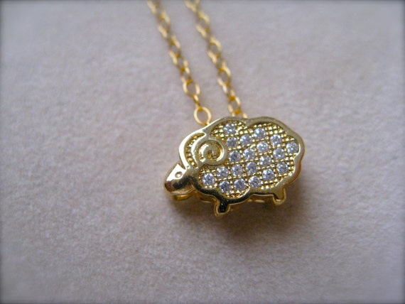 Gold Tiny Sparkly Pendant