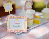 INSTANT DOWNLOAD - Lemonade Stand Table Cards Food Labels - PRINTABLE - By A Blissful Nest