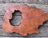 Redwood Cheese Board, Wood Cheeseboard, Reclaimed, Large