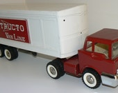1950s Structo Van Line Toys 14 Wheeler Pressed Steel Truck and Trailer BEAUTY