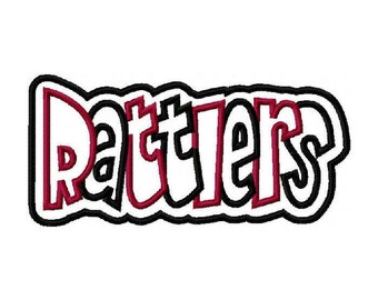 Rattlers 2 color Embroidery Machine Double Applique Digital Design 2893