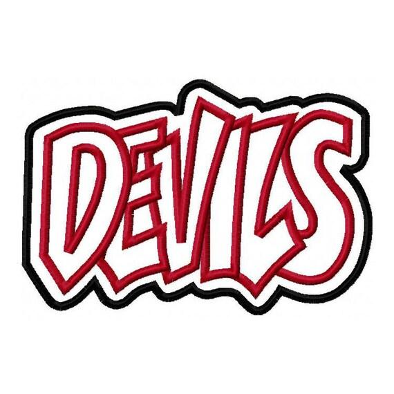 Devils Embroidery Machine Double Applique Design 2748