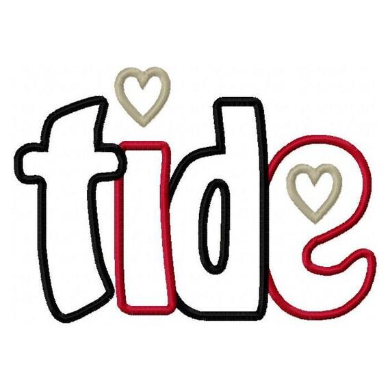 Tide 2 Color Digital Embroidery Machine Applique Design 2896