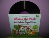 SHOP CLOSING SALE Vinyl Record Album Disney's Winnie the Pooh and the North Pole Expotition Story & Lp 1968 Sterling Holloway Children's Cla
