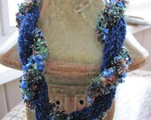 Crocheted Twisted Sparkle Necklace