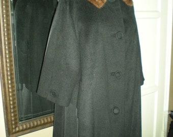 Vintage Long Aline Wool Coat