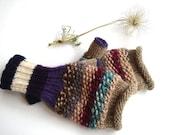 Purple women gloves, knit women gloves, original mittens, warm gift for her - RainbowMittens