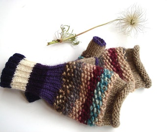 Purple,brown gloves, women gloves, Christmas gift for her