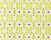 Organic Cotton Fabric Modern Whimsy Meadow by Laurie Wisbrun for Robert Kaufman - 1/2 YD