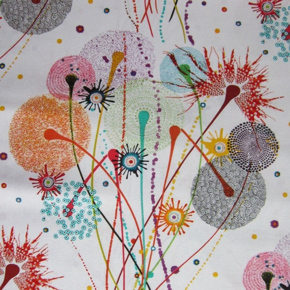 Wild Garden African Daisy White by Dan Bennett for Westminster Fabrics  - 1 YD of 100% Cotton Fabric