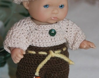 PDF PATTERN Crochet 5 inch Berenguer Baby Doll Country Boy or Scarecrow