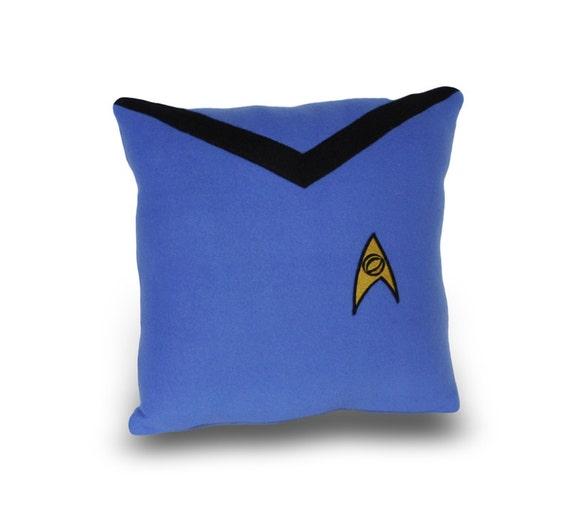 Star Trek Science Officer  Blue Pillow