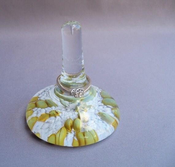 Hand Blown Art Glass Ring Holder