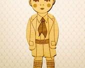 a boy wooden bookmark
