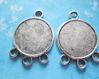 50pcs 20mm tibetan silver round picture/photo frame charms/pendants connectors