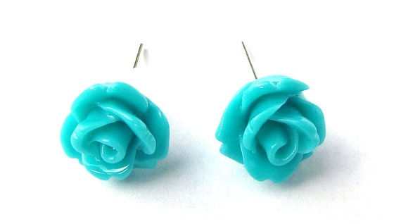Rose Turquoise Earrings