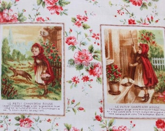 Red Riding Hood (Panel) printed in Japan - Ivory  by Lecien