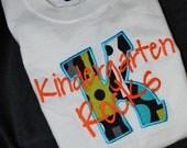 Kindergarten Rocks  Groovy Guitar theme School Shirt
