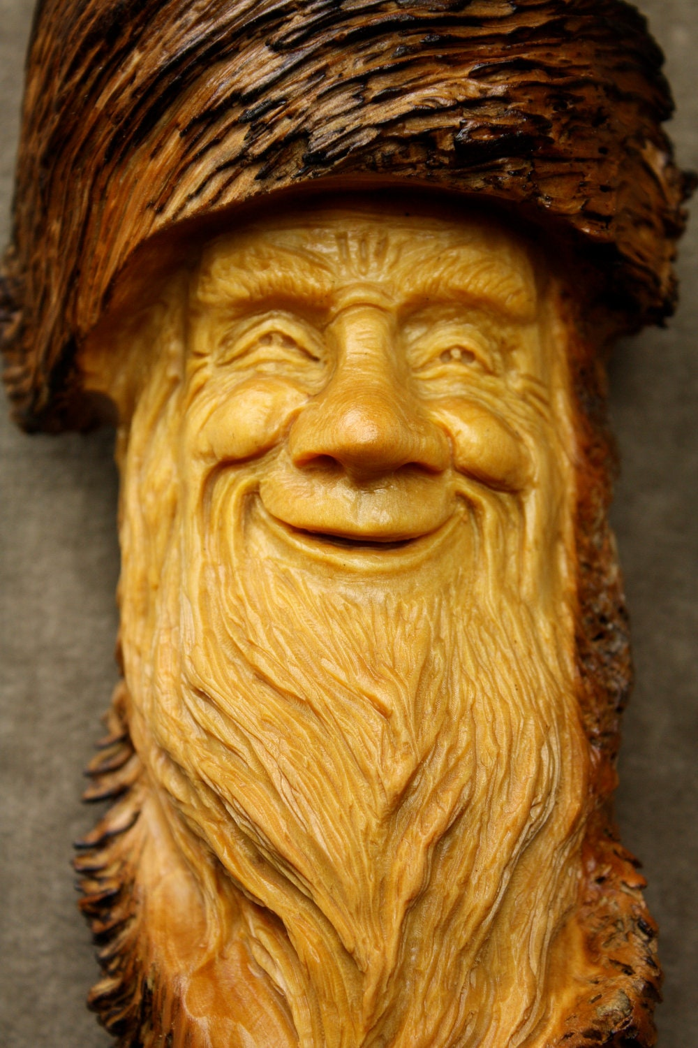 Wood spirit wood carving elf wizard on etsy carved by gary - Sculpture sur bois ...