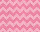 Medium Chevron Tone on Tone Pink by Riley Blake Designs 1/2 yd total