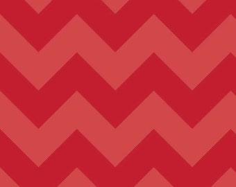 Chevron in LARGE Tone on Tone Red by Riley Blake Designs, 1/2 yard