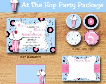 Sock Hop Birthday Party-Fifties Party-Party Pack-Printable Party Package