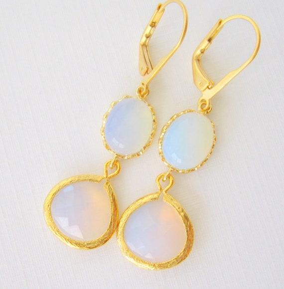 Opal blue & pink Earrings dangle Earrings, Opalescent Glass Handmade Jewelry, DAWN CLOUDS Handmade drop Earrings,