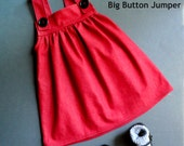 Pattern sewing children,,kids&baby,Pattern sewing girl,handmade,girls pinafore,jumper pattern,Big Button Jumper