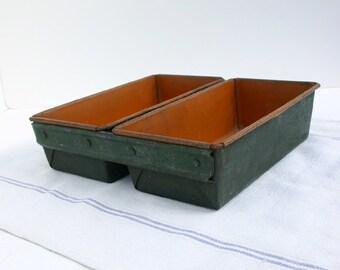 Industrial Storage Bin / Rustic Metal Box