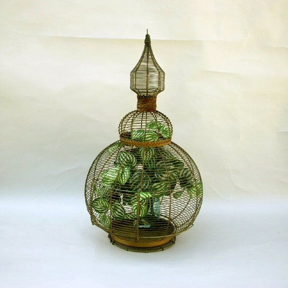 RESERVED Steeple Top Wire Bird Cage / Large Wire Round Bird Cage