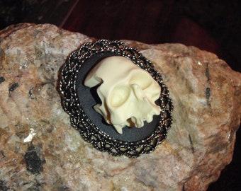 3D skeleton cameo brooch/pendant