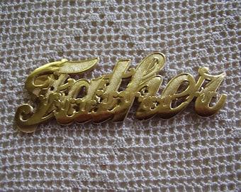 Vintage Stickers Father Gold Foil Gummed Labels 10 Pc.