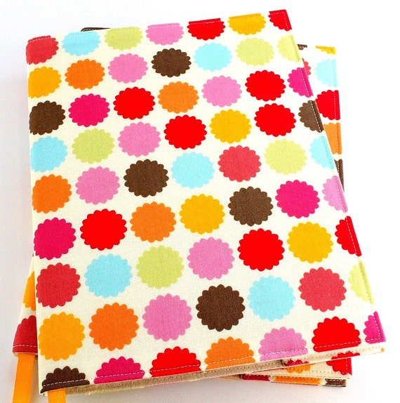 Reserved for LPaulson - Reusable journal cover and Crayon Wallet - Paint Dots