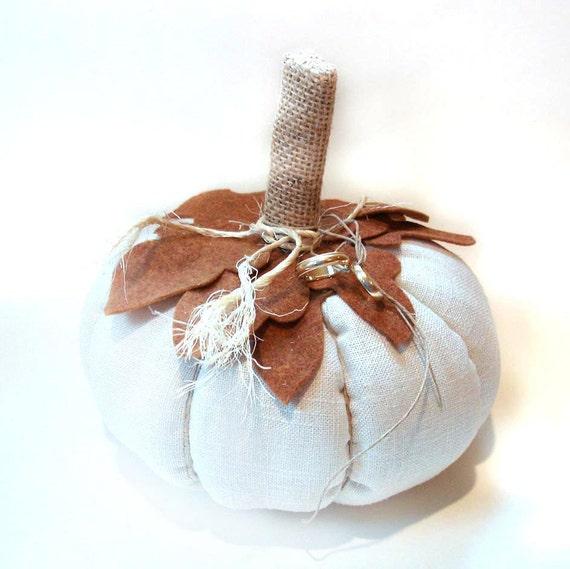 Ring bearer pumpkin pillow, Halloween wedding autumn fall rustic outdoor country wedding