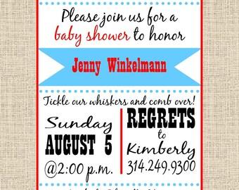 "Baby Shower Invitation ""Little Man"""