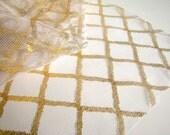Gold Criss Cross Netting