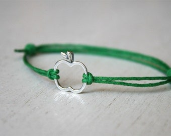 Apple Bracelet, Apple Anklet (many colors to choose)