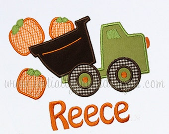 Personalized Pumpkin Dump Truck Shirt/Onesie, Perfect for Fall- Short or Long Sleeves Available