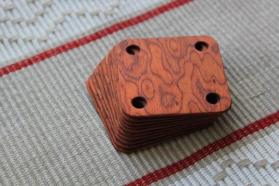 10 Dark- brown birdseye tablet weaving cards. Ancient medieval viking art weaving loom craft work SCA